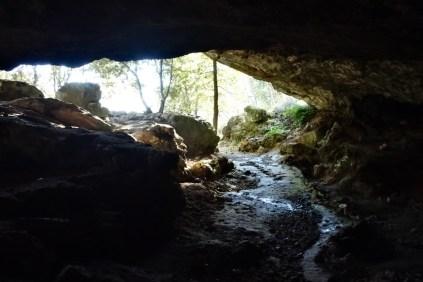 La Grotta dell'Onda dall'interno