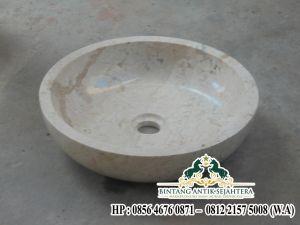 Wastafel Marmer Minimalis