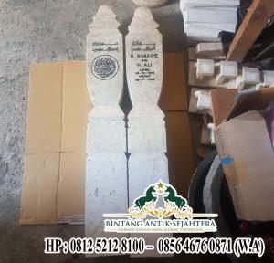 Nisan Patok Marmer Model Terbaru , Jual Nisan Batu Marmer