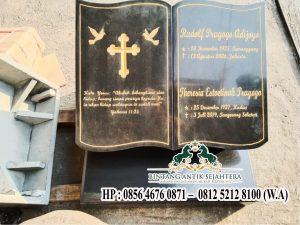 Nisan Kuburan Batu Alam, Model Nisan Buku Kristen Granit