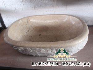 Wastafel Bulat Marmer Keprik, Model Wastafel Marmer Batu Alam