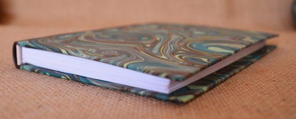 carnet artisanal A6 vert brun or ©Sentulia (1)