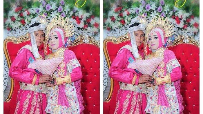 Pengantin Sesama Jenis Menikah Berbusana Pink