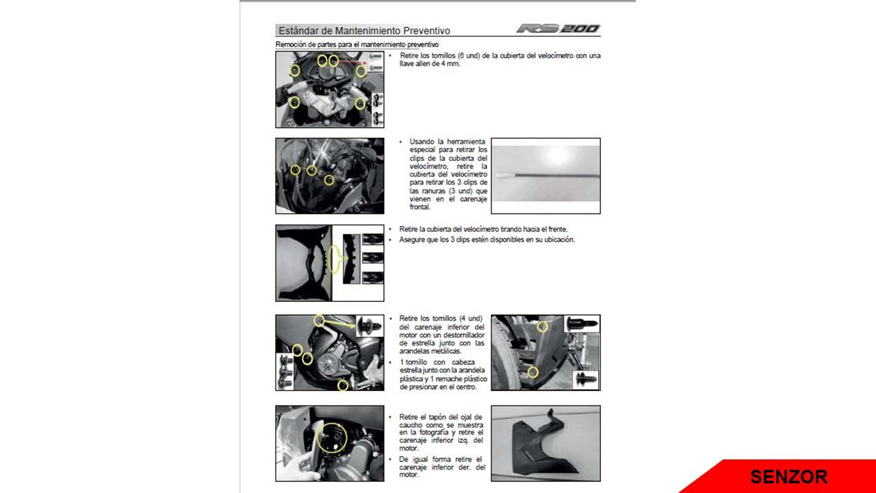 Manual de Reparación o Servicio Bajaj Pulsar RS 200