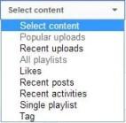 Adding Recent Uploads to YouTube