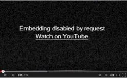 Embedding Disabled by Request