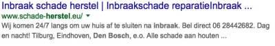 SEO inbraakschade herstel reparatie google vermelding