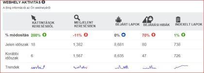 A Bing Webmestereszközök is számos információt nyújt