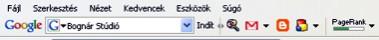 PageRank mérő lécecske | Google Toolbar kép