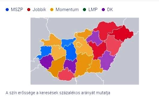 Melyik megye melyik ellenzéki párté?