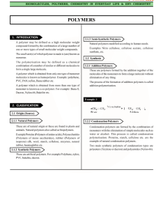 also class chemistry revision notes for chapter polymers rh vedantu