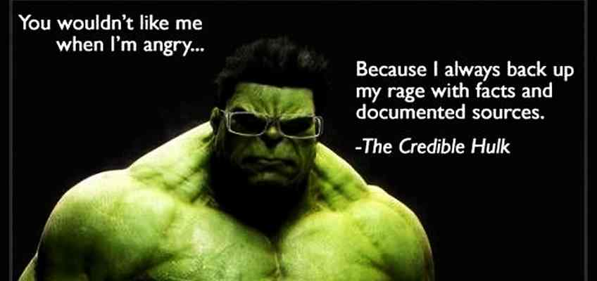 Citing Credible Statistics - the Credible Hulk - Feature Image