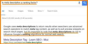 Are SEO Title and Meta Description ranking factors?