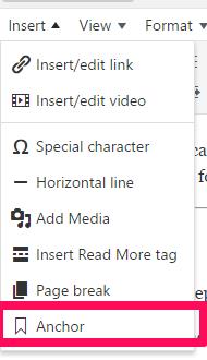 insert-anchor in WordPress