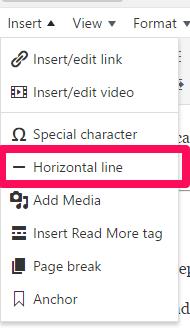 insert-horizontal-line