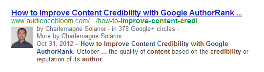 google authorship markup