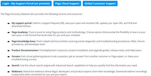 Pega Support Portal