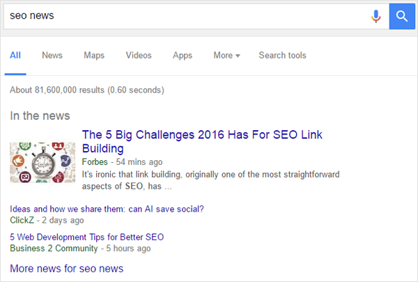 SEO News Search Results
