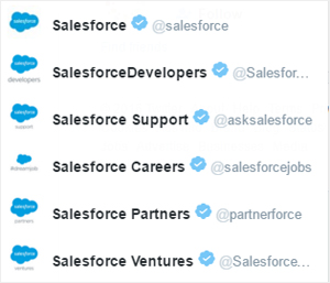salesforce support twitter accounts