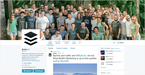 Buffer Twitter Profile