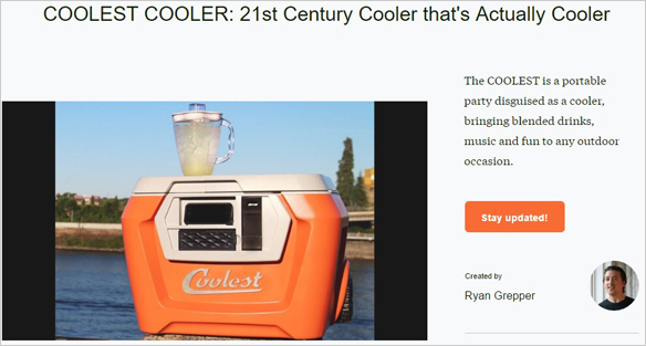 Coolest Cooler Headline