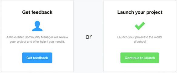 setup profile kickstarter