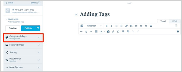 content tags