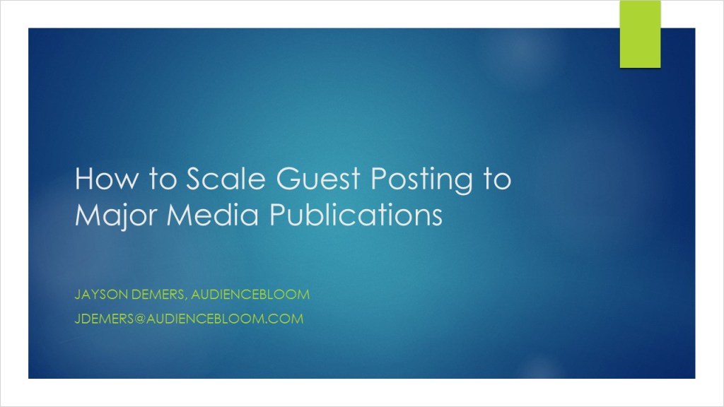 How to Scale Guest Posting to Major Media Publications