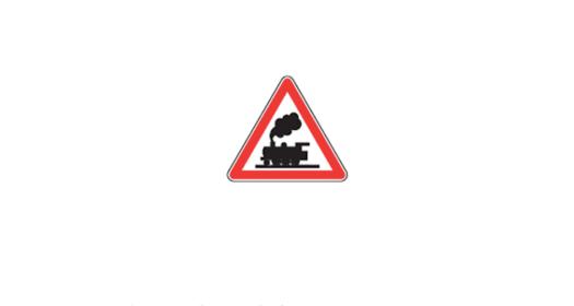 panneau de danger : passage à niveau