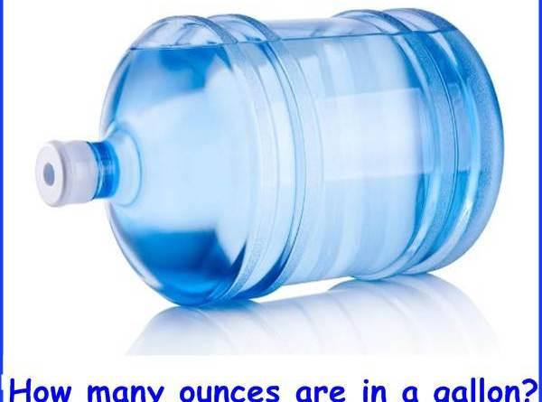 How many ounces are in a gallon?