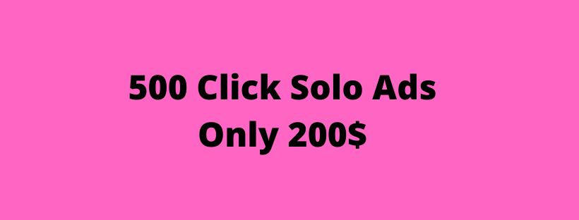 Solo ads guaranteed clicks