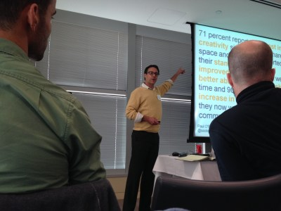 Paul O'Brien speaking - Thanks Lance and CabForward for the pic!
