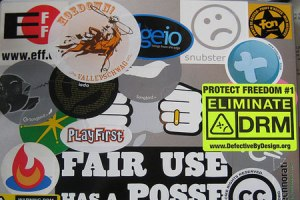 Startup Stickers on Laptops
