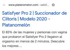 Example of satisfyer pro platanomelon 3.