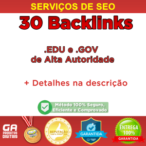 30backlink eduegov - 30 Backlinks Edu E Gov Alta Autoridade