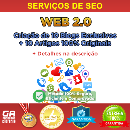 Criação De 10 Blogs Web 2.0 Manual 100% Seguro Seo Backlink
