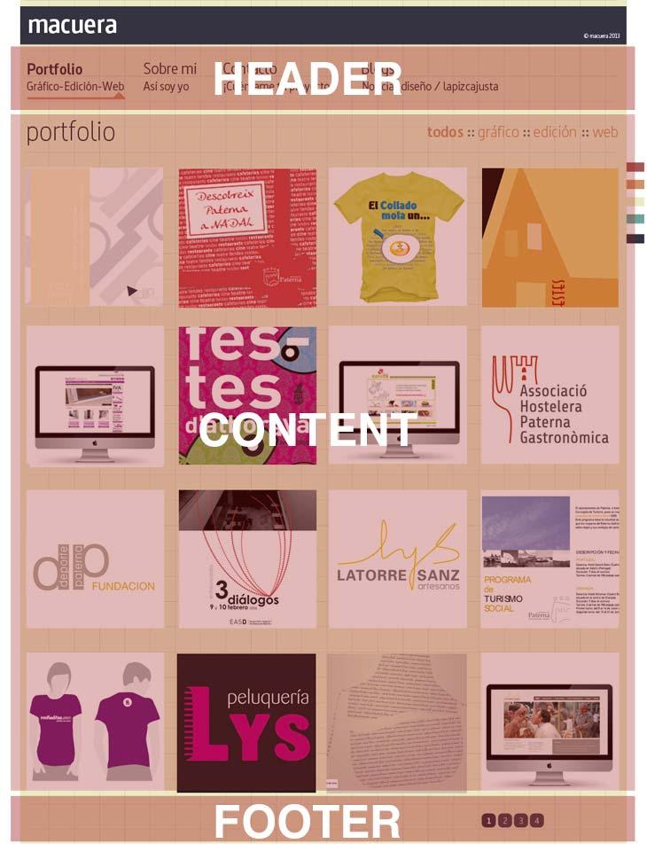 ejemplo de un desarrollo en photoshop de una web