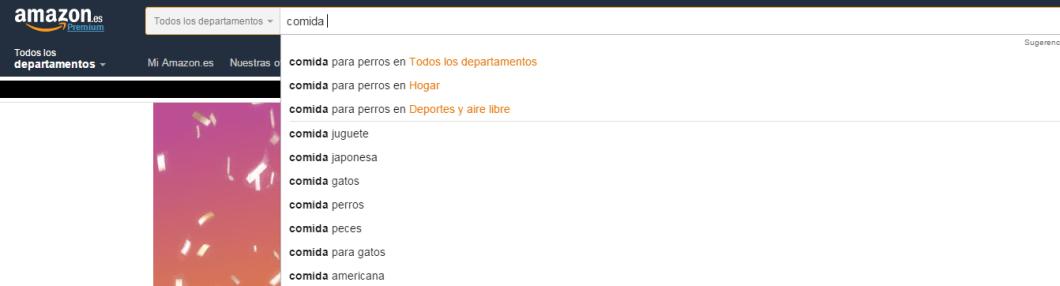 Sugerencias de palabras clave de Amazon