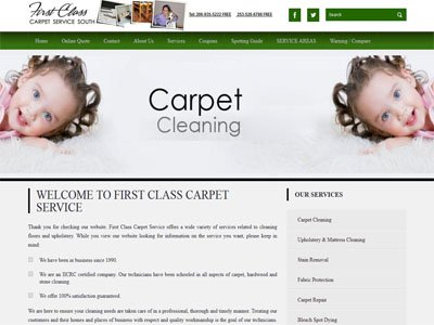 Firstclasscarpetservice Web design