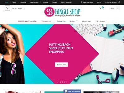 Bingoshop Web design