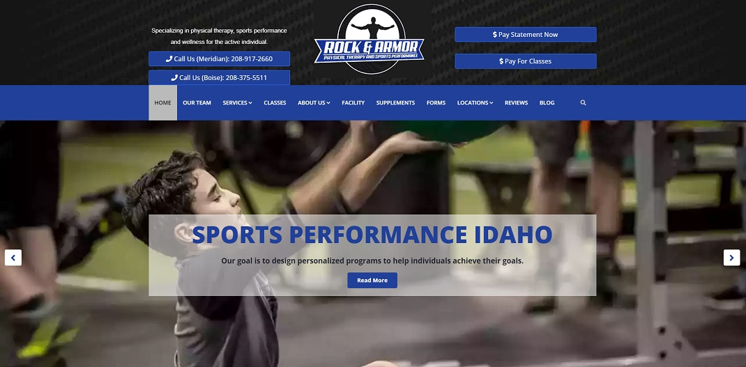Rock & Armor Physical Therapy Website Build