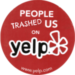 frustrated with yelp sign
