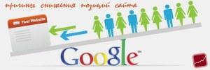 причины снижения позиций сайта в Google