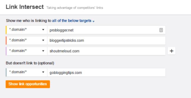 So sánh xem link của chúng ta với link của đối thủ có đặt cùng chỗ không