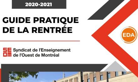 Guide pratique de la rentrée 2020-2021 – Éducation des adultes