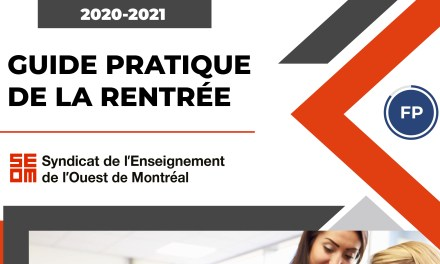 Guide pratique de la rentrée 2020-2021 – Formation professionnelle