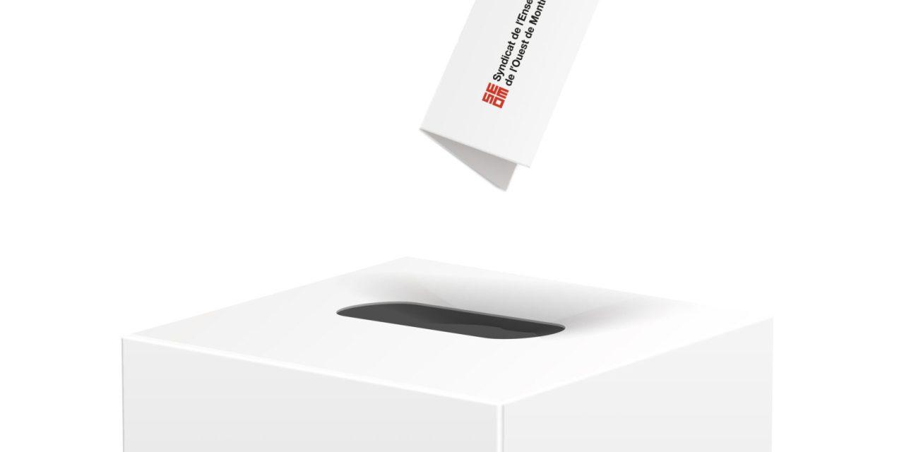 Les vidéoclips des candidates et candidats aux élections du CA du SEOM