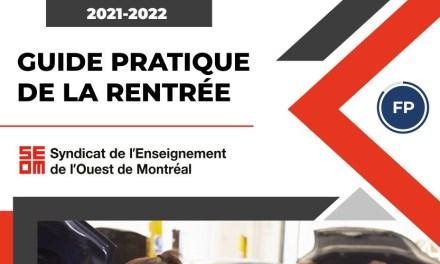 Guide pratique de la rentrée 2021-2022 | Formation professionnelle