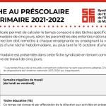 Tâche 2021-2022   Préscolaire et primaire