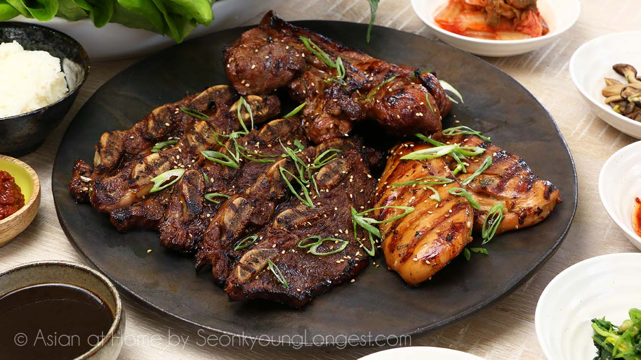 Galbi Korean Marinated Rib Bbq Recipe Video Seonkyoung Longest